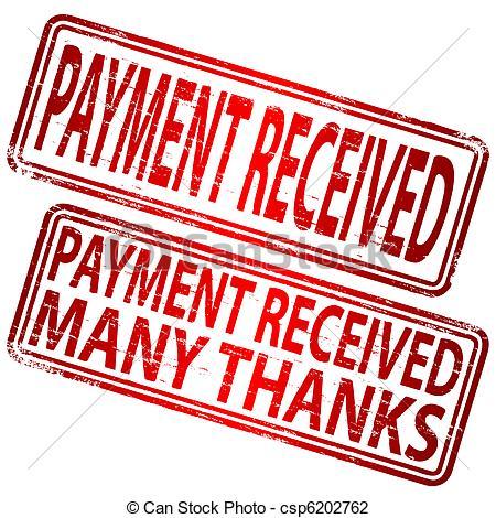 Cash clipart payment  Stamp Paid Cash Clipart