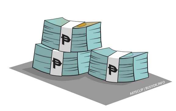 Cash clipart peso Bill cartoon file Philippine peso