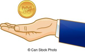 Cash clipart peso Businessman hand coin on