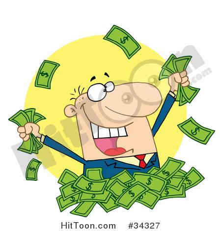 Cash clipart pile money  Money Caucasian Happy of