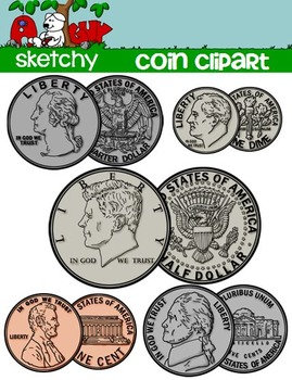Coin clipart american coin Clipart A US Money Sketchy