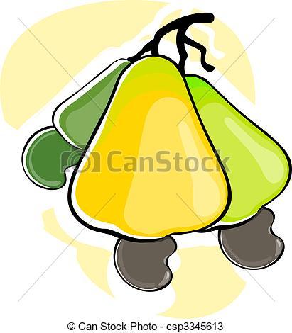 Cashew clipart Nut Illustration csp3345613 Cashew two