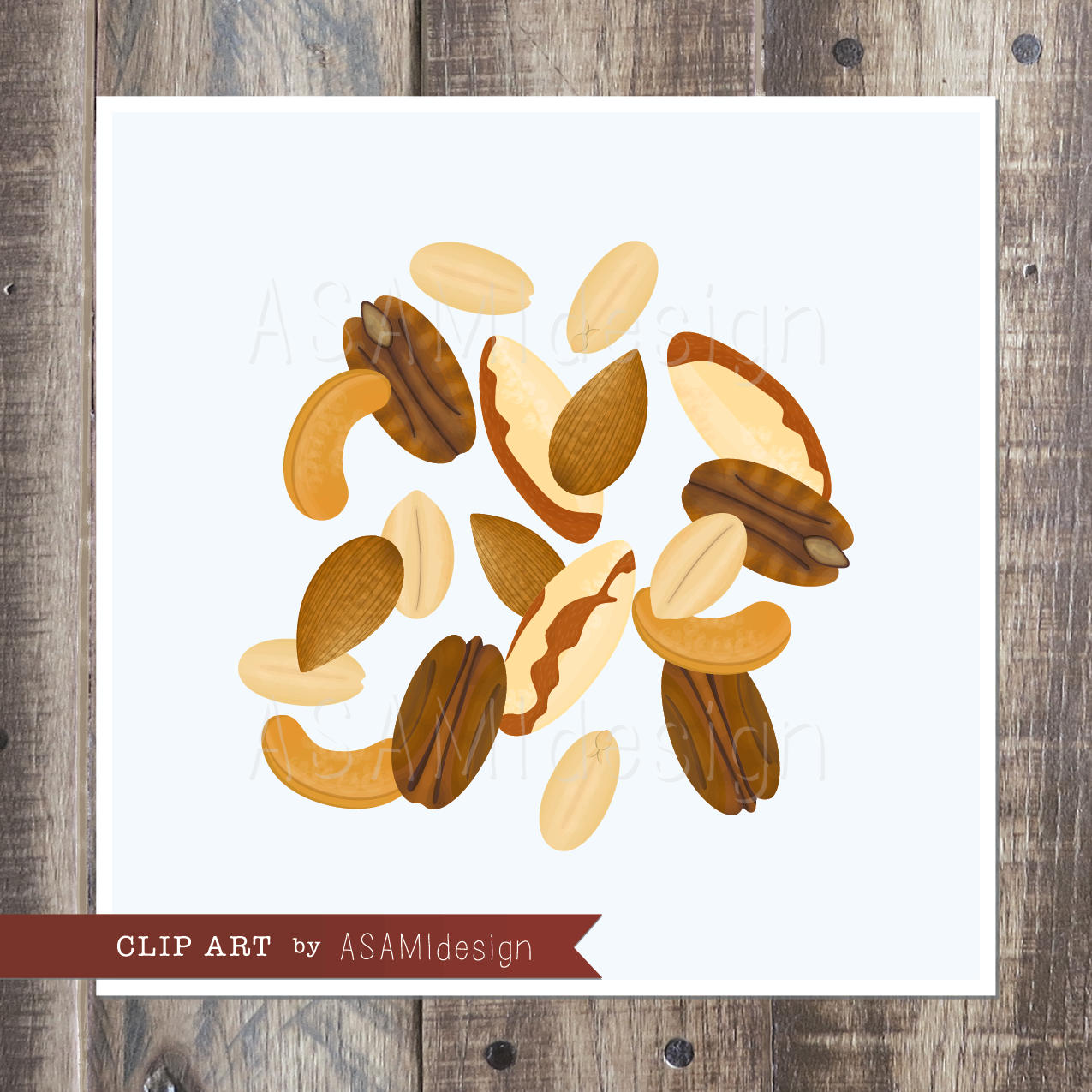 Peanut clipart mixed nuts Nuts file Art  Almond