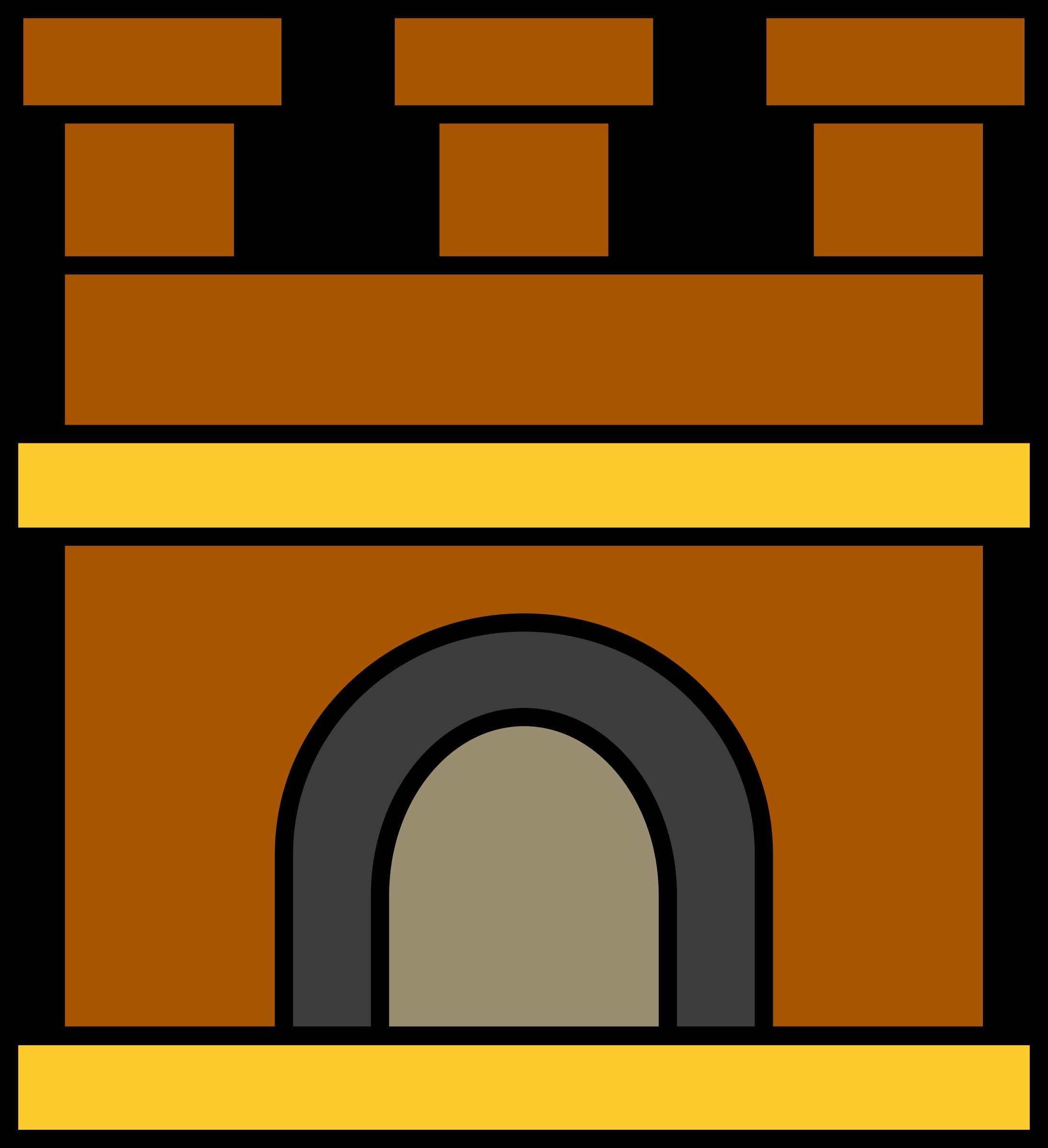 Brown clipart castle Keep keep Castle Castle Clipart