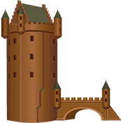 Brown clipart castle Castle Bizarre Clipart Fantasy Medieval