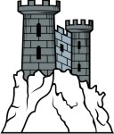 Castle clipart pink purple Castle collection turret Castle clipart