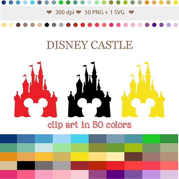 Castle clipart colorful Colors Clipart #C053 Mickey Disney