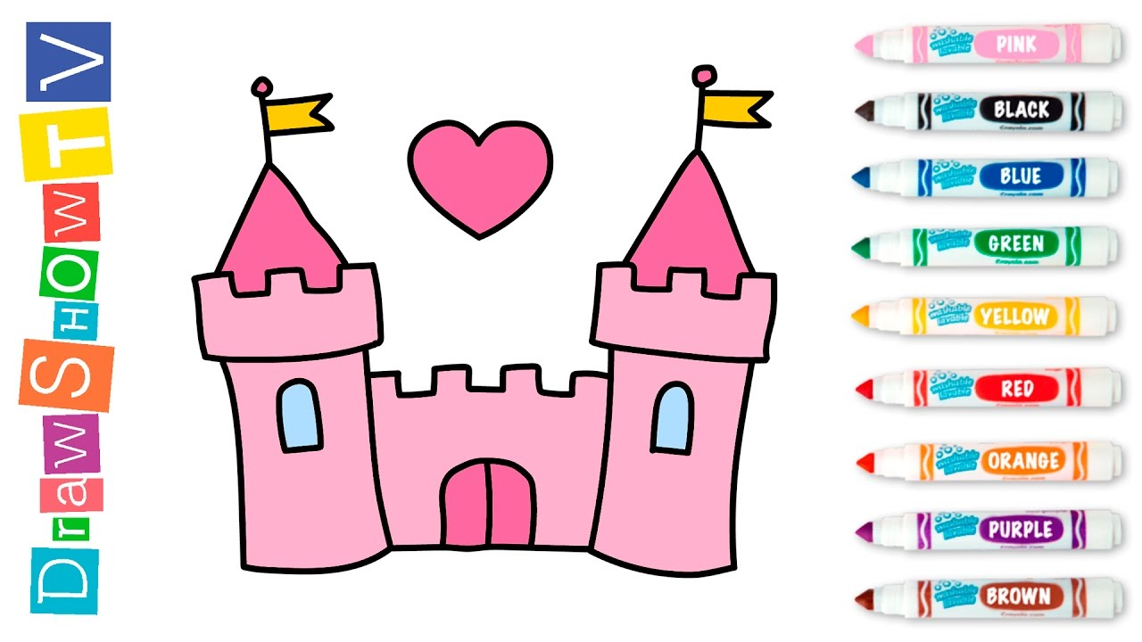 Drawn castle kids castle #8