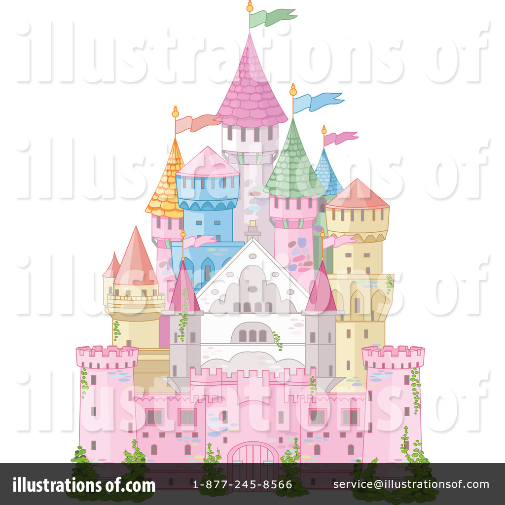 Castle clipart colorful Illustration by Pushkin Free by