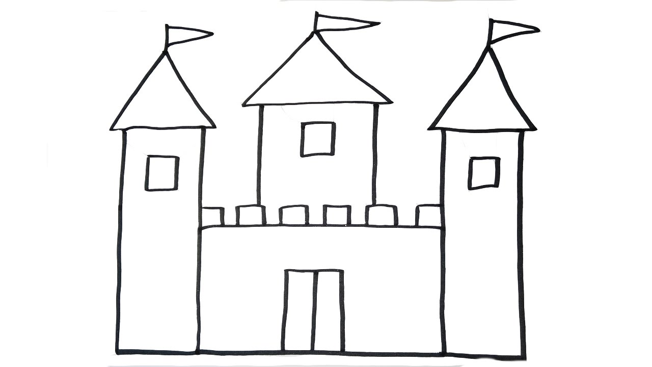 Drawn castle easy #2