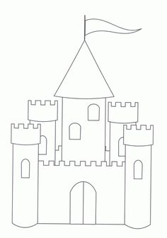 Drawn castle template #10