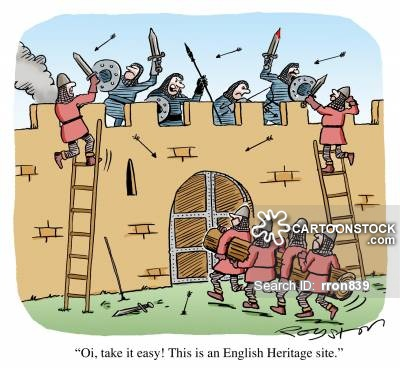 Castle clipart medieval army Heritage and in battle CartoonStock