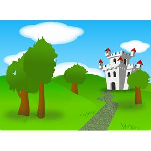 Castle clipart scenery Png remix castle fortress clip_art