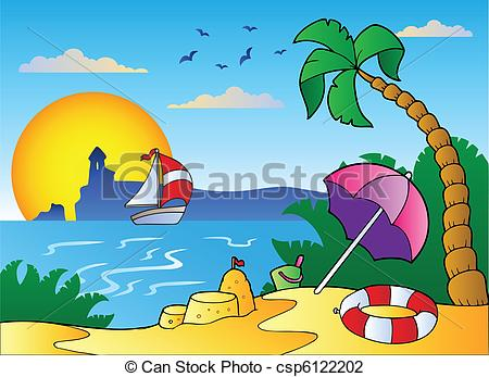 Castle clipart scenery Vector umbrella of with with
