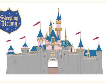 Disneyland clipart sleeping beauty castle Download Stamp Magic sleeping Front