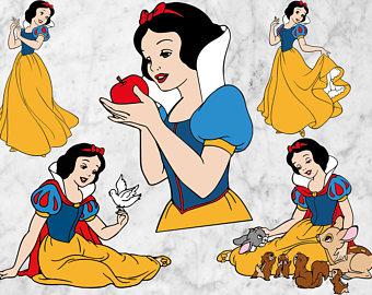 Castle clipart snow white Snow white white white Etsy