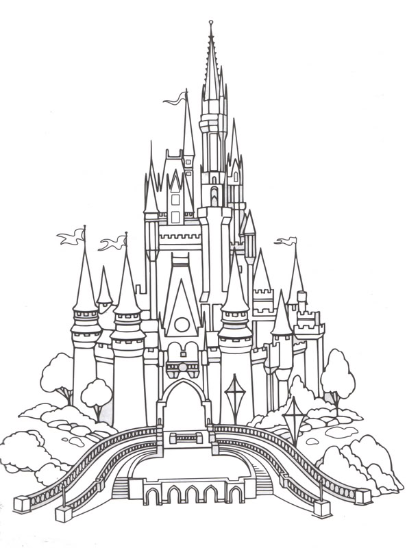 Castle clipart snow white Disney castle world WikiClipArt castle