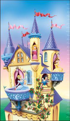Castle clipart snow white Clipart mural clipart Castle mural