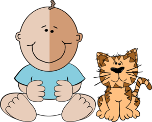 Cat clipart baby cat At Boy Art Baby Baby