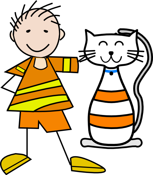 Cat clipart boy And and boy a Cat