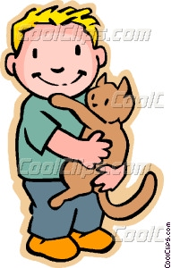Cat clipart boy Boy boy Clip cat with