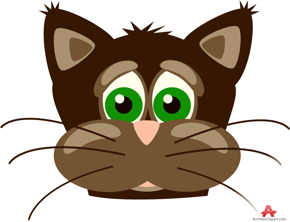 Cat clipart brown Clipart Face Cat Download Free