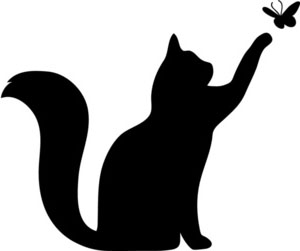 Cat clipart butterfly CAT (face BUTTERFLY right)