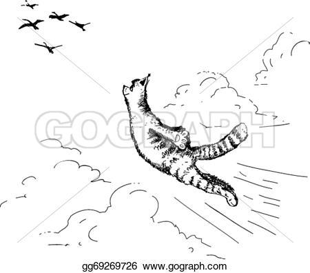 Cat clipart drawn Hand Art Vector gg69269726 Clipart