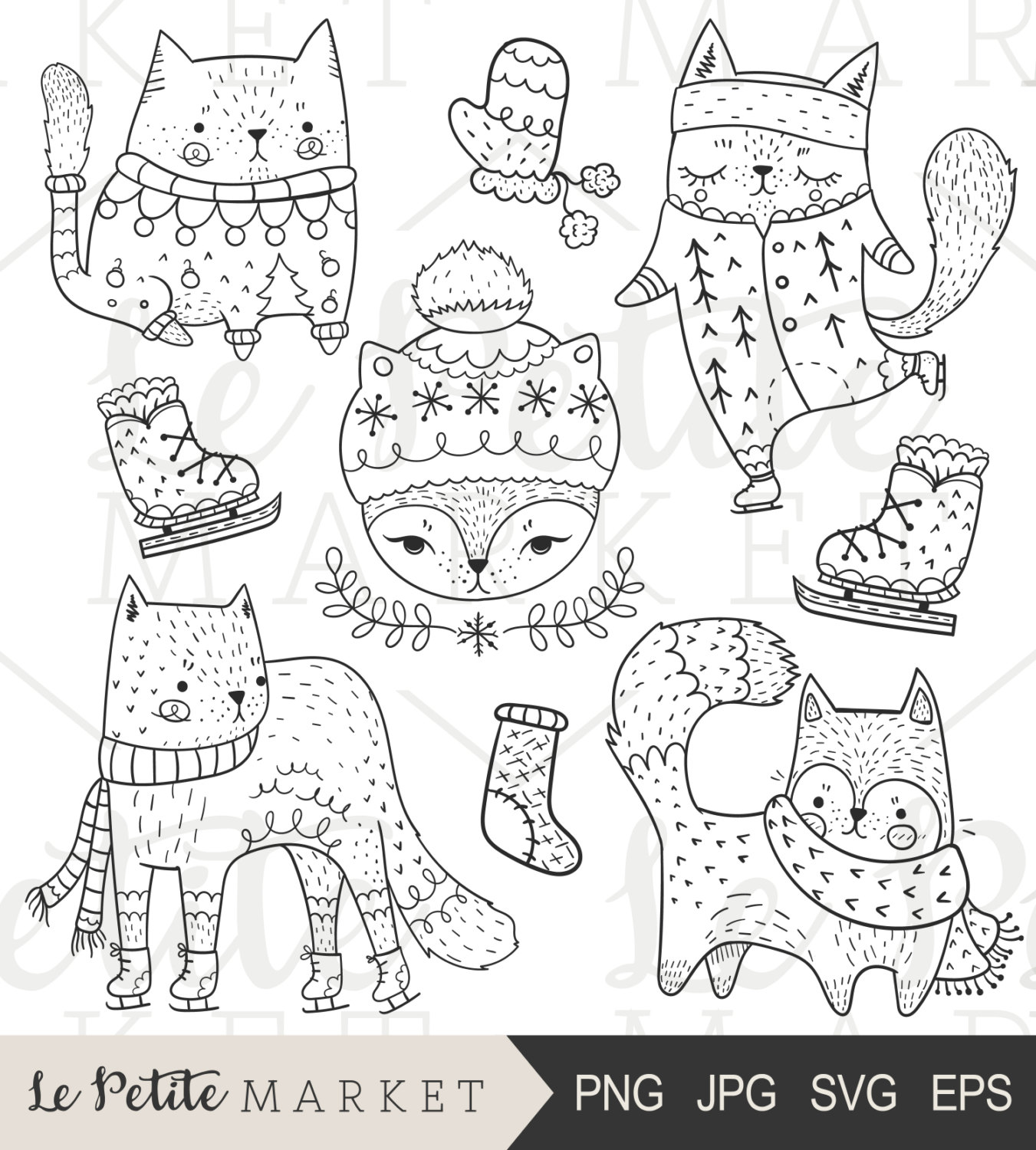 Cat clipart drawn File is This Winter Cat