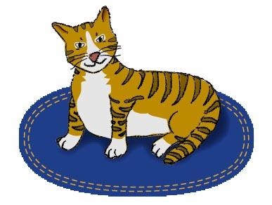 Cat clipart mat Cat  Mat On Cat