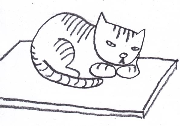 Cat clipart mat Black mat Clipart on Cat