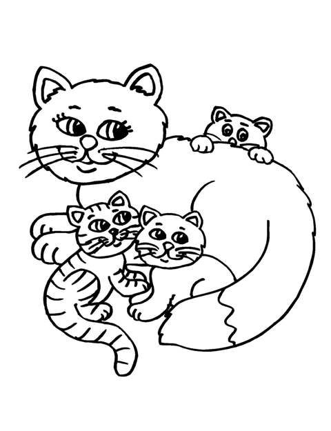 Cat clipart mother and baby Art Clipart Cat Clip Mother