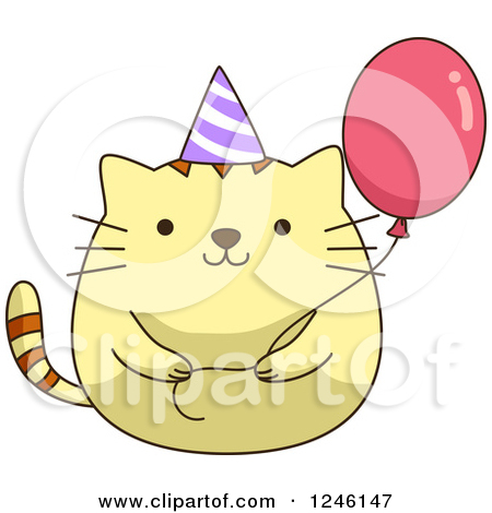 Birthday clipart cat in hat Art Fans kitty clip Clipart