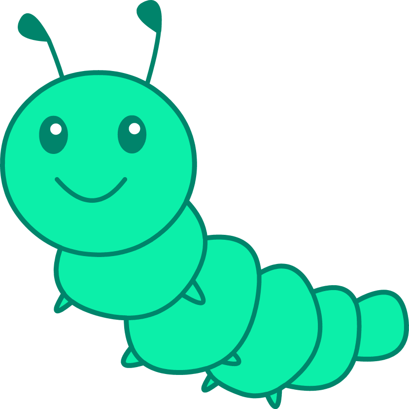 Caterpillar clipart #11