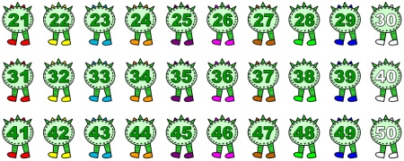 Caterpillar clipart number 1 1 Art Numbers Clip Clipart