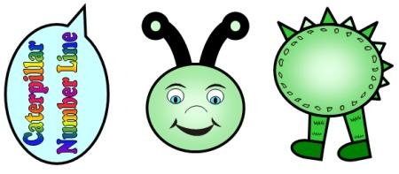 Caterpillar clipart number 1 Resources Math springtime Numberline Caterpillar