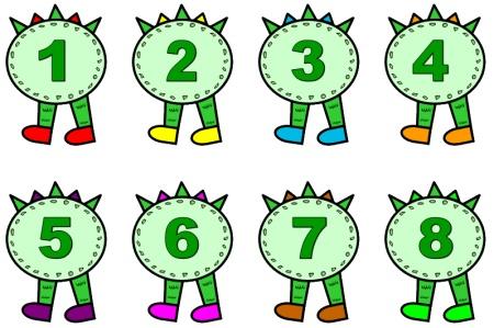 Caterpillar clipart number 1 Number activities « » Number