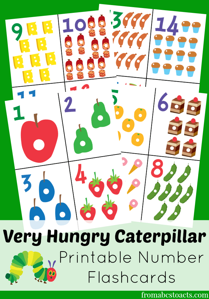 Caterpillar clipart number 1 Very Flashcards Flashcards Hungry The
