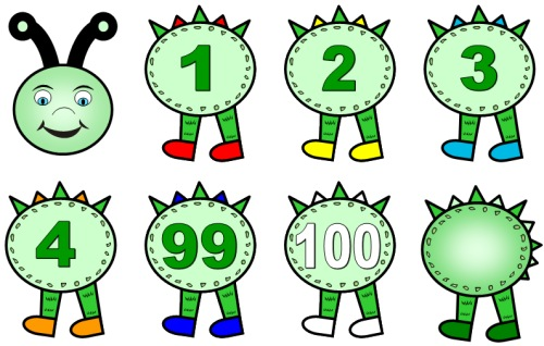Caterpillar clipart number 1 5 numbers » Common Clipart