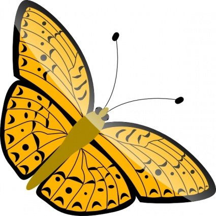 Caterpillar clipart painted lady Butterfly · Gardens Butterflies Dome