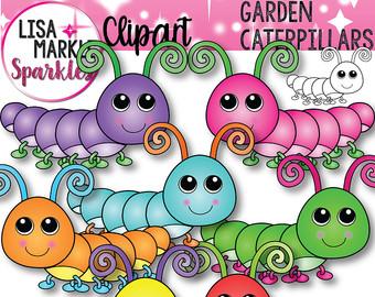 Caterpillar clipart pastel Clipart Caterpillar Spring with