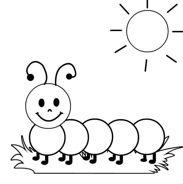Caterpillar clipart printable #11
