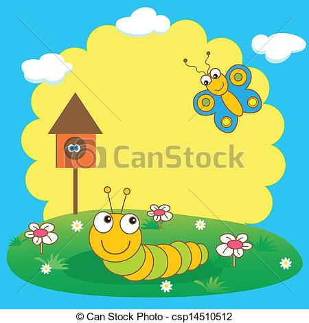 Caterpillar clipart spring #9