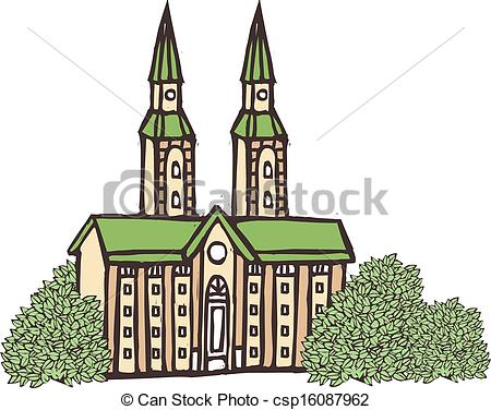 Cathedral clipart  and Stock of Cathedral
