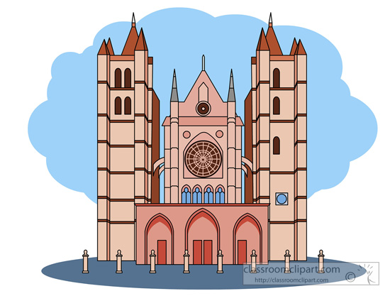 Cathedral clipart Gothic : Clipart gothic leon