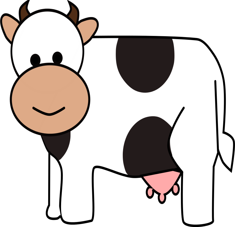 Beef clipart transparent Cow Outline Free Clipart on