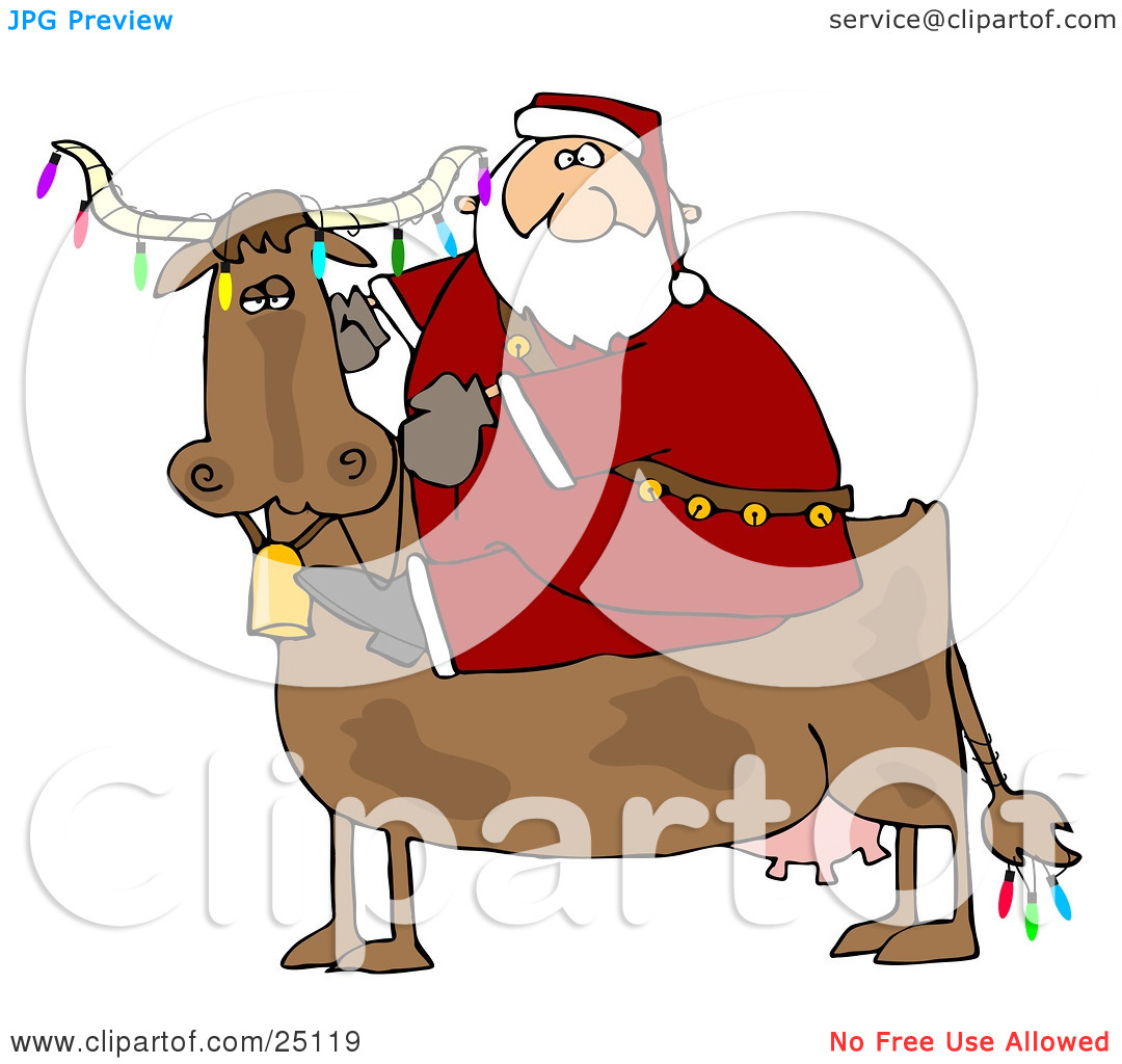 Cattle clipart christmas #10