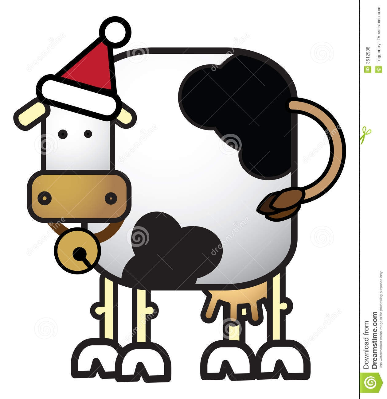 Cattle clipart christmas #13