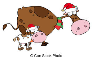 Cattle clipart christmas #11