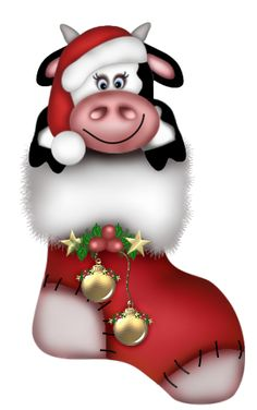 Cattle clipart christmas #8